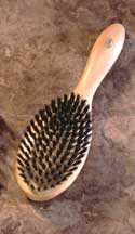 beech oval hairbrush
